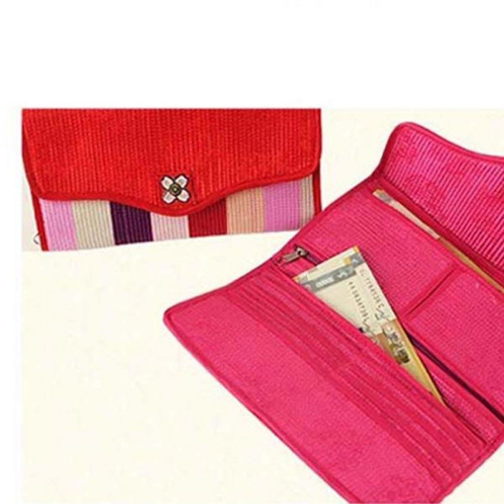 색동무늬 전통지갑/추석 설날 외국인 선물