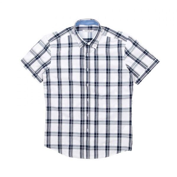 남자셔츠 베이직 체크 반팔셔츠 J0417015