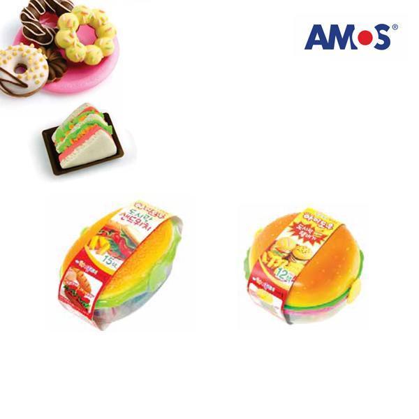 AMOS 컬러점토 아이도우 도시락햄버거세트[제작 대량 도매 로고 인쇄 레이저 마킹 각인 나염 실크 uv 포장 공장 문의는 네이뽕]