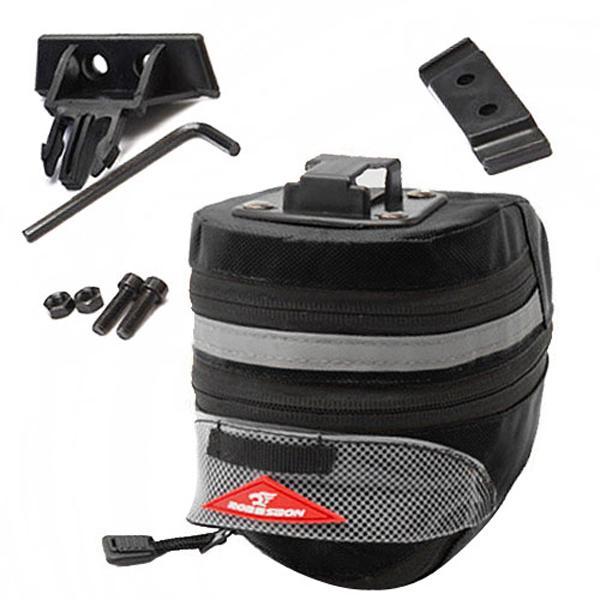 자전거 후미등 안장가방 확장형 블랙
