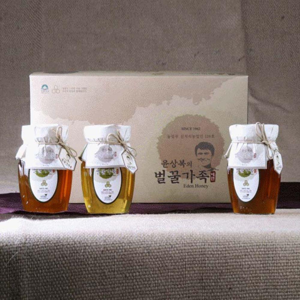 에덴양봉원_윤상복의 벌꿀가족 5호 1.8kg 아카시아꿀 잡화꿀 꿀세트 꿀선물