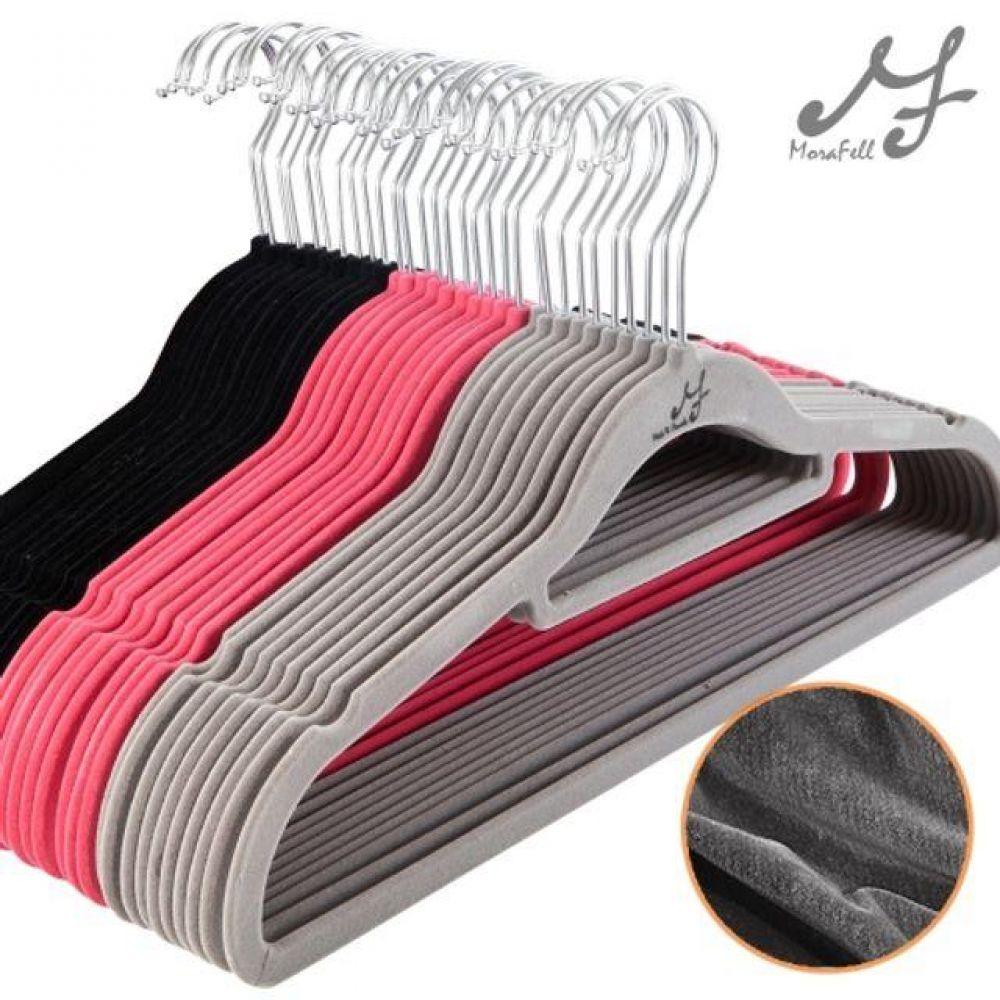 논슬립 벨벳 옷걸이 표준형 미끄럼 방지 옷걸이 옷정리