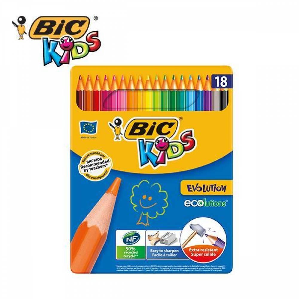 빅 에볼루션 메탈 컬러링 18색 색연필세트[제작 대량 도매 로고 인쇄 레이저 마킹 각인 나염 실크 uv 포장 공장 문의는 네이뽕]