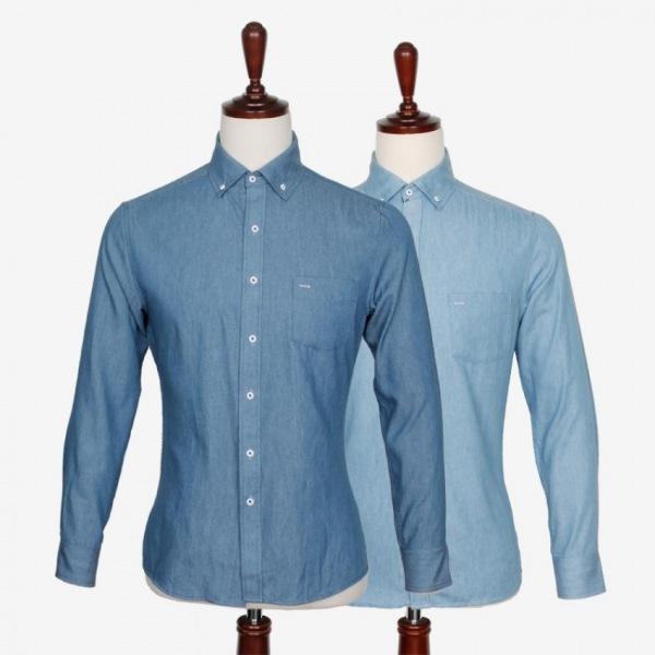 남자셔츠 캐주얼 청해지 소매 포인트 셔츠 J0416010