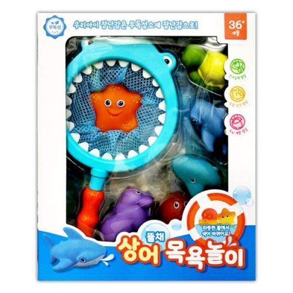 유원 뜰채 상어 목욕놀이(74409) 목욕장난감 아기장난감 물놀이장난감