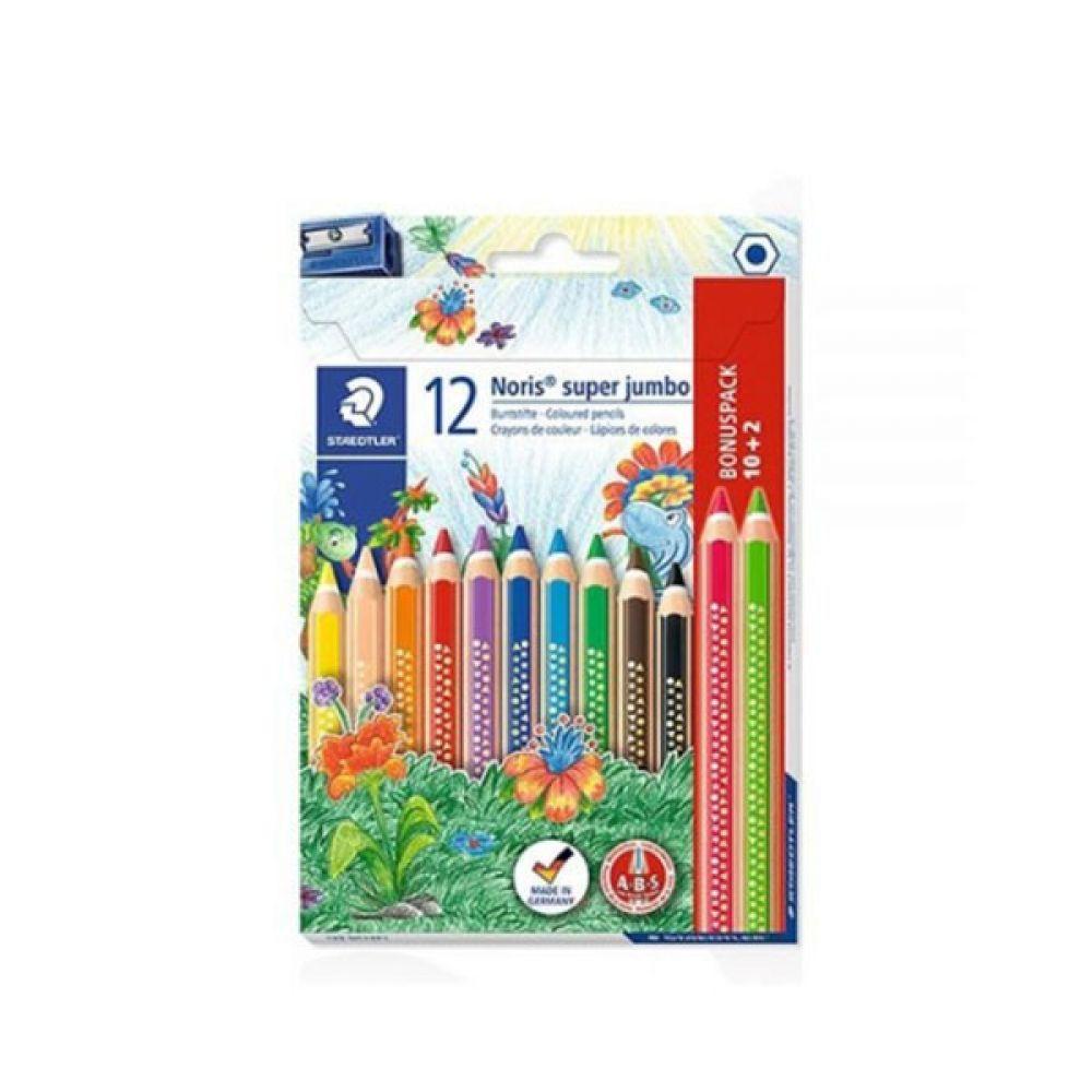 스테들러 노리스클럽 코끼리색연필 129NC12P1 12색 [제작 대량 도매 로고 인쇄 레이저 마킹 각인 나염 실크 uv 포장 공장 문의는 네이뽕]