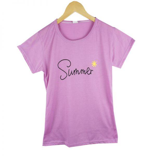 027 SUMMER 여성 여름 라운드 티셔츠