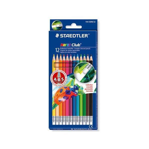 스테들러 노리스클럽 144 50NC12 12칼라 지우개색연필세트