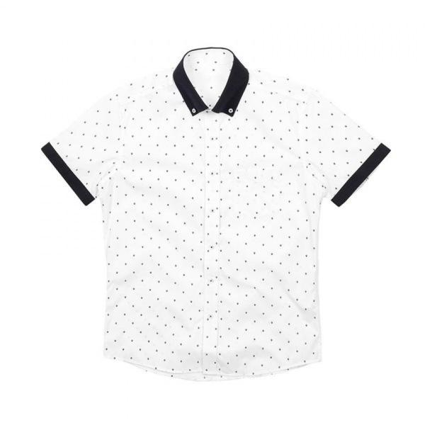 남자셔츠 다이아 도트 반팔셔츠 J0417012