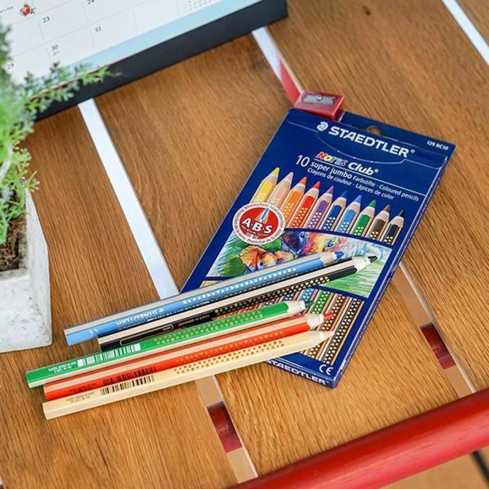 스테들러 노리스클럽 슈퍼점보 129-NC10 10색 색연필 세트