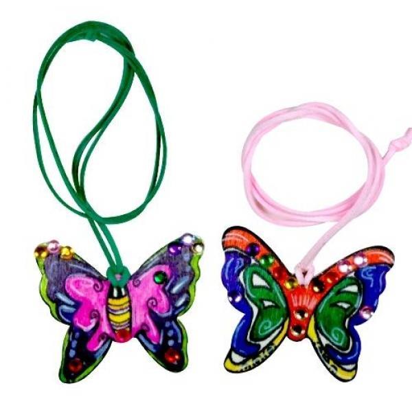 (만들기재료)보석 나비 목걸이(1개) 8개묶음