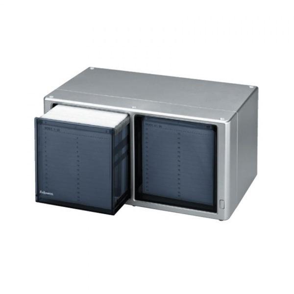 펠로우즈 원터치 CD박스 (120CD) 90684 CD보관함[제작 대량 도매 로고 인쇄 레이저 마킹 각인 나염 실크 uv 포장 공장 문의는 네이뽕]