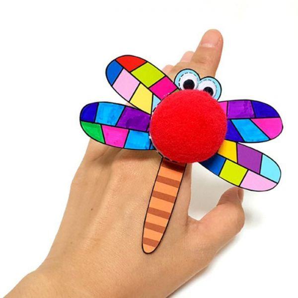 만들기재료)가을잠자리 손가락 반지만들기 10개묶음