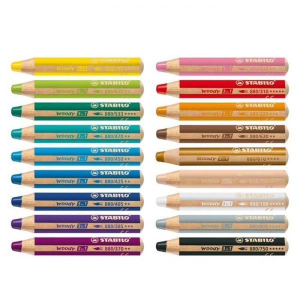 스타빌로 우디 3in1 색연필 [제작 대량 도매 로고 인쇄 레이저 마킹 각인 나염 실크 uv 포장 공장 문의는 네이뽕]