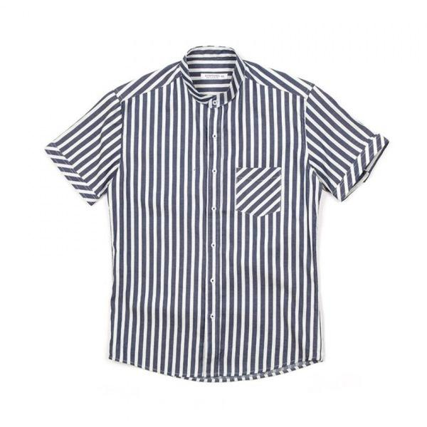 남자셔츠 차이나카라 스트라이프 반팔셔츠 J0417021