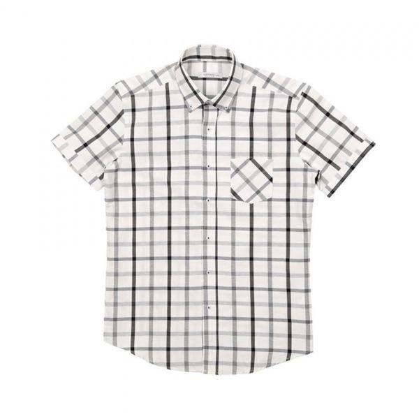 남자셔츠 클래식 체크 반팔셔츠 J0417016