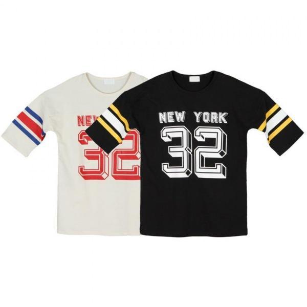 남자반팔티셔츠 뉴욕32 7부 티셔츠 A0316002