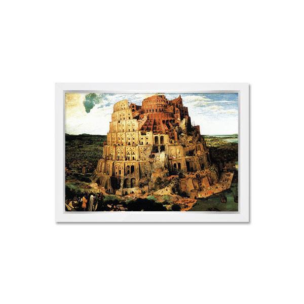500조각 퍼즐액자세트 - 바벨탑 모던화이트액자 (액자포함)