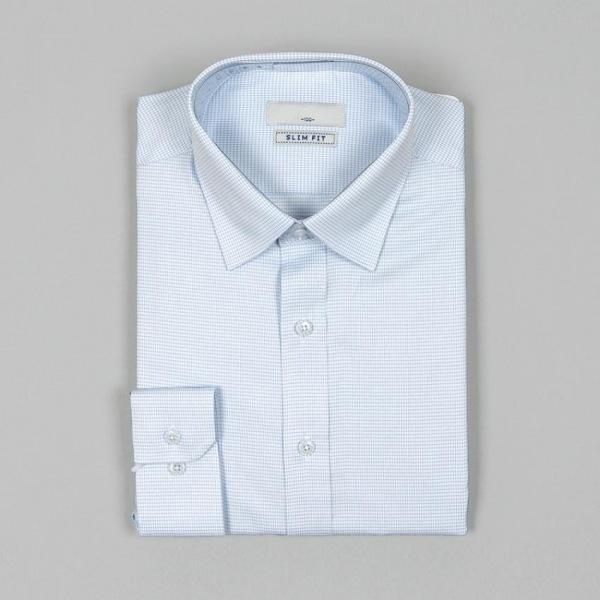 남자셔츠 체크무늬 슬림핏 와이셔츠 G0416025