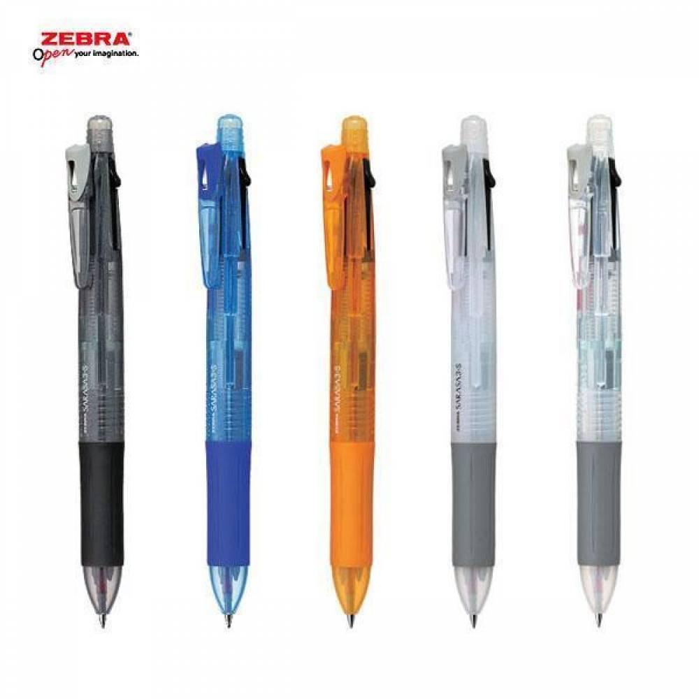 제브라 사라사3S 멀티펜 [제작 대량 도매 로고 인쇄 레이저 마킹 각인 나염 실크 uv 포장 공장 문의는 네이뽕]