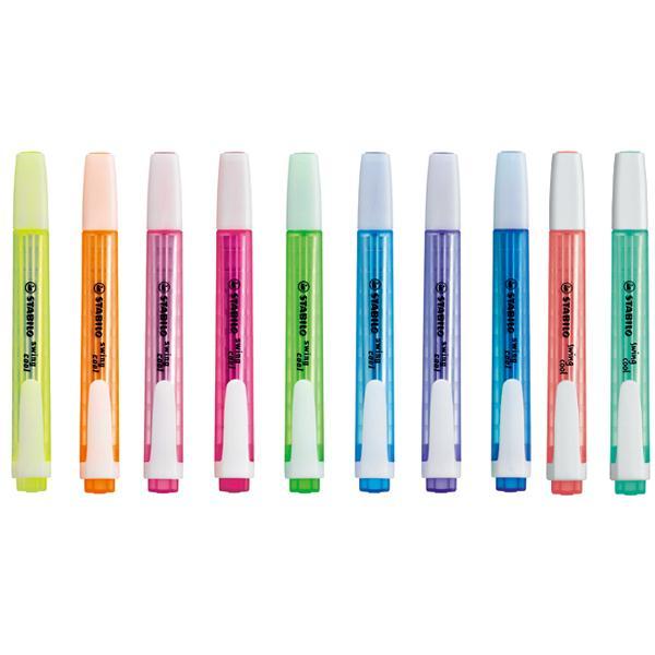 스타빌로 스윙쿨 하이라이터 형광펜[제작 대량 도매 로고 인쇄 레이저 마킹 각인 나염 실크 uv 포장 공장 문의는 네이뽕]