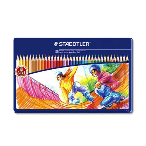 스테들러 일반금속케이스 145SPM36 색연필세트
