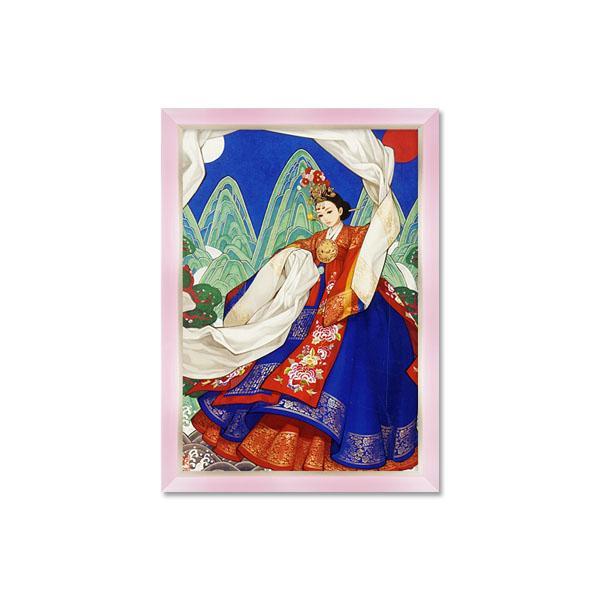 500조각 퍼즐액자세트 - 화관무 여인 모던핑크액자 (액자포함)