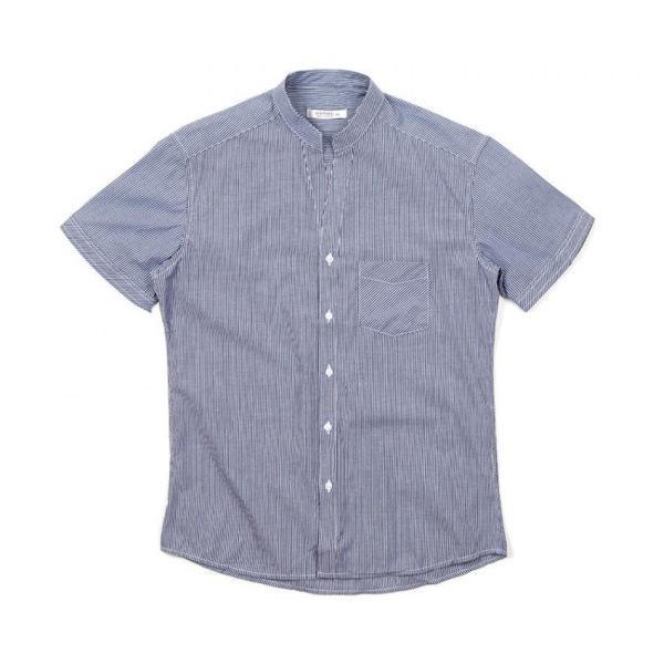 남자셔츠 차이나넥 라인 스트라이프 반팔셔츠 J0417025