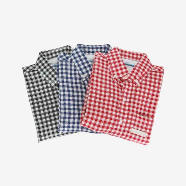 남자셔츠 사각체크 버튼다운 셔츠 Z0416002