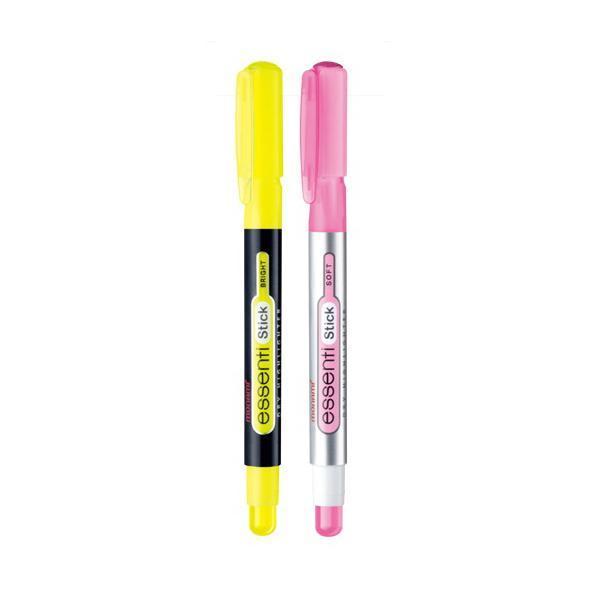 모나미 에센티스틱 형광펜 [제작 대량 도매 로고 인쇄 레이저 마킹 각인 나염 실크 uv 포장 공장 문의는 네이뽕]