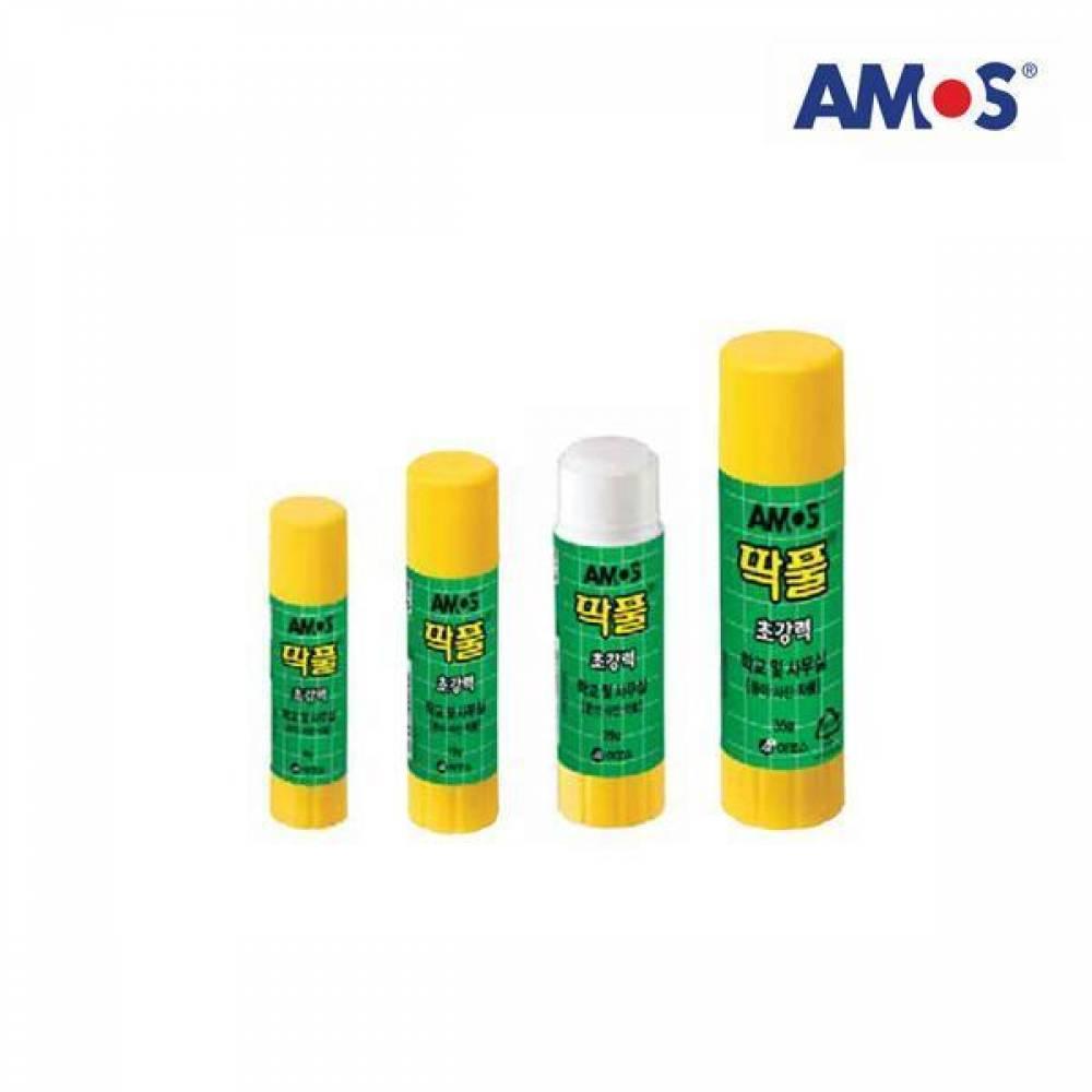 AMOS 딱 풀 25g[제작 대량 도매 로고 인쇄 레이저 마킹 각인 나염 실크 uv 포장 공장 문의는 네이뽕]