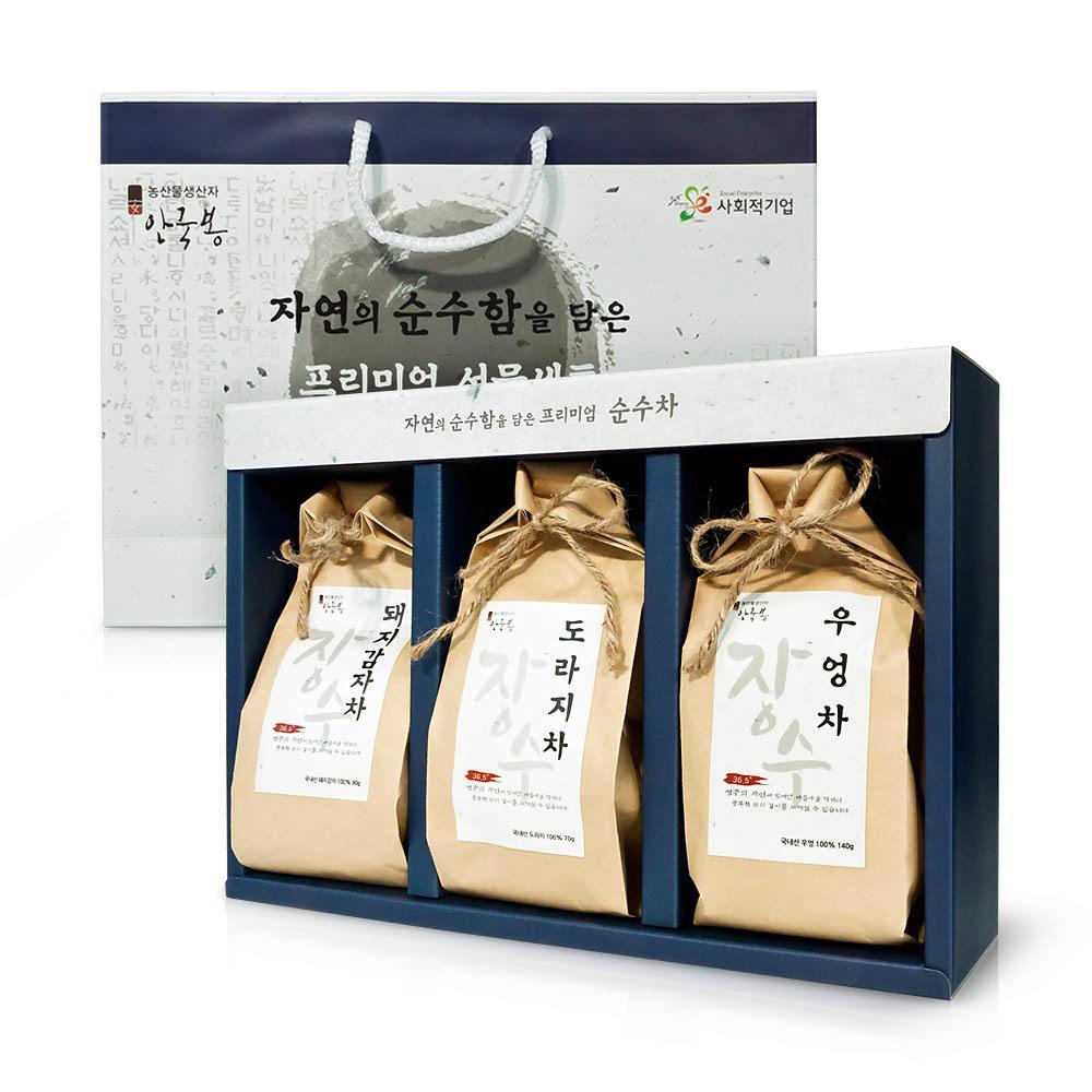 몸에좋은 건강차 선물세트(우엉차_돼지감자차_도라지차)