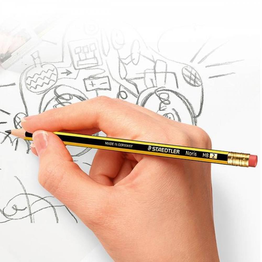 스테들러 노리스 122-HB 12개입 지우개 연필