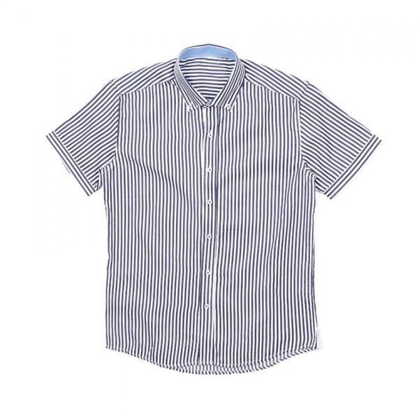 남자셔츠 스트라이프 포켓 반팔셔츠 J0417018