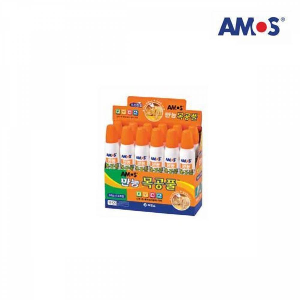 AMOS 목공풀 36g 12개입[제작 대량 도매 로고 인쇄 레이저 마킹 각인 나염 실크 uv 포장 공장 문의는 네이뽕]