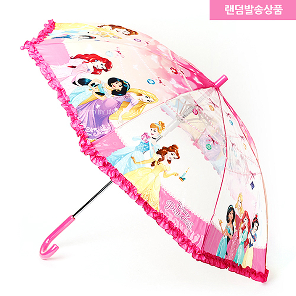 디즈니 프린세스우산(랜덤) 디즈니우산 장우산 어린이우산 캐릭터우산 공주우산 여아우산