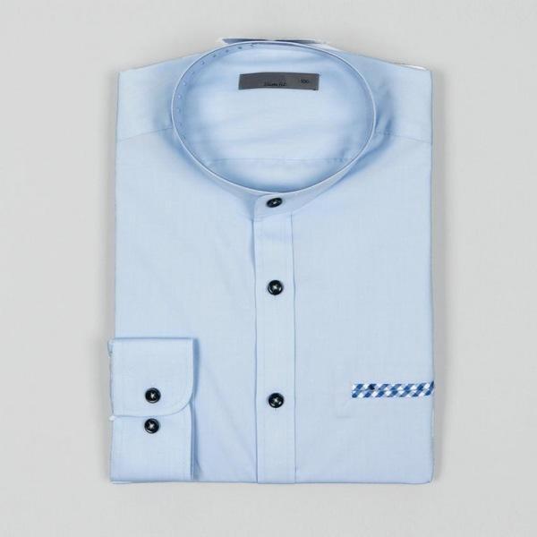 남자셔츠 포켓 포인트 체크 슬림핏 와이셔츠 G0416072
