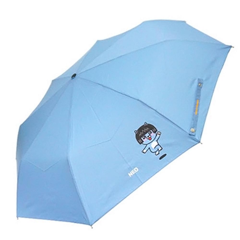 카카오프렌즈 점핑 완전자동우산-네오(스카이) 자동우산 우산