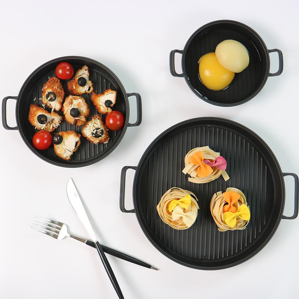 플레이팅 손잡이접시 3종세트 캠핑접시 접시세트