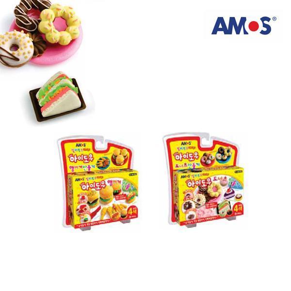 AMOS 컬러점토 아이도우 햄버거만들기세트[제작 대량 도매 로고 인쇄 레이저 마킹 각인 나염 실크 uv 포장 공장 문의는 네이뽕]