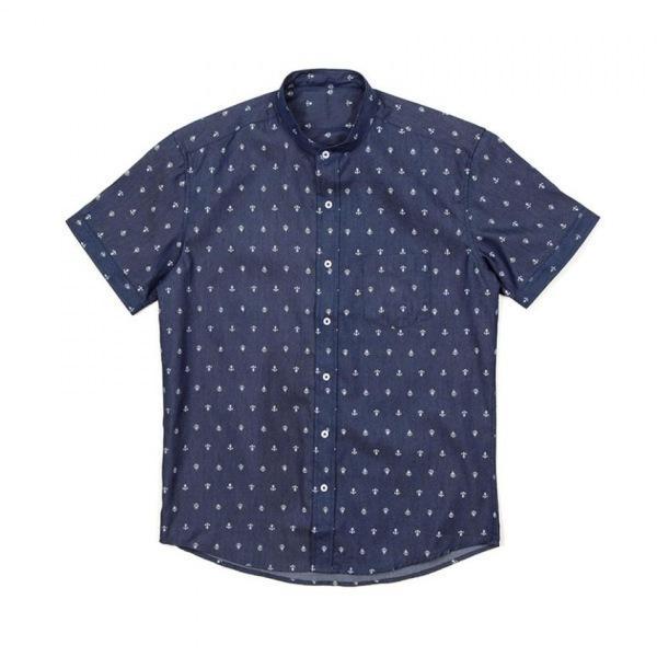 남자셔츠 패턴 포켓 반팔셔츠 J0417022