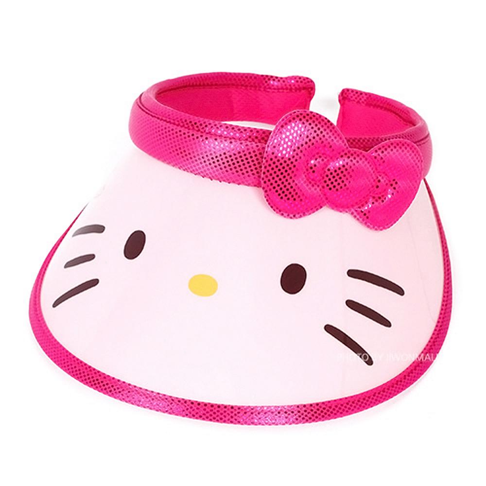 헬로키티 페이스리본 아동핀캡(핑크) 썬캡 어린이썬캡 어린이모자 햇빛가리개
