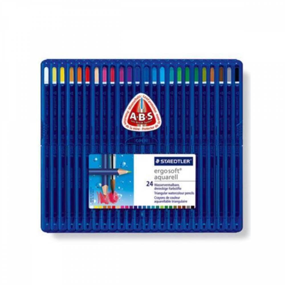 스테들러 에고소프트 아쿠아렐 156SB24 24칼라 수채색연필 세트