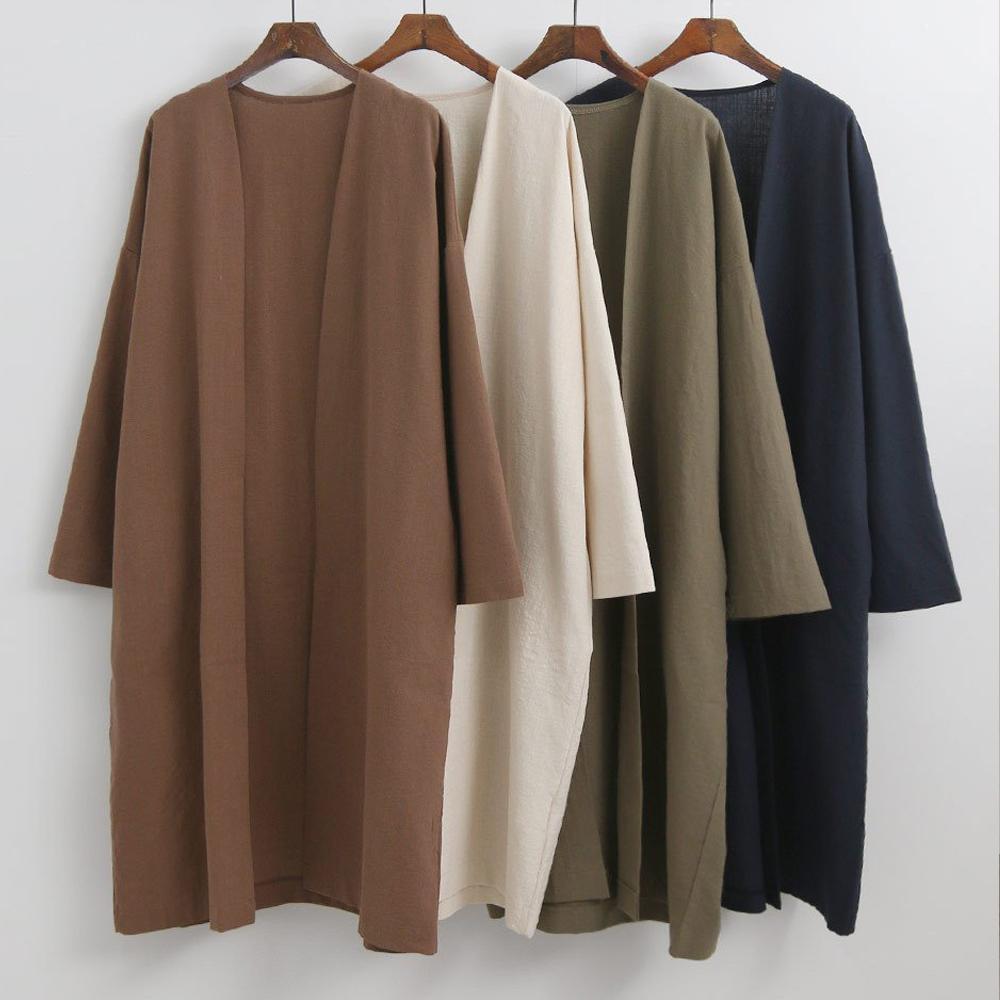 미시옷 5256L004 베이직 면 오픈 자켓 EM 빅사이즈 여성의류 빅사이즈 여성의류 미시옷 임부복 코튼오픈롱심플자켓