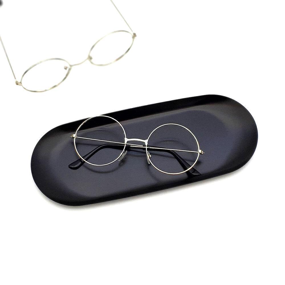 실버 원형 안경테