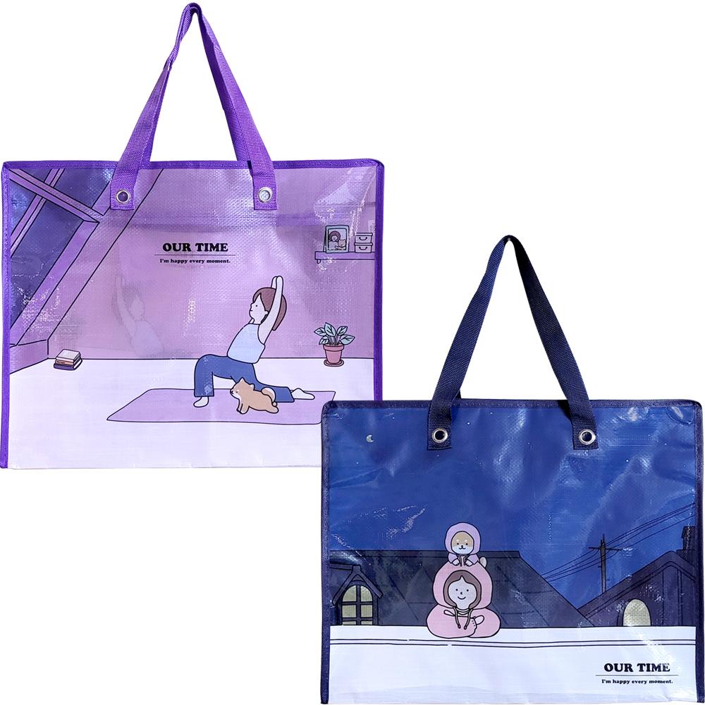 보리 투명 타포린 쇼핑백(6000원X10개)