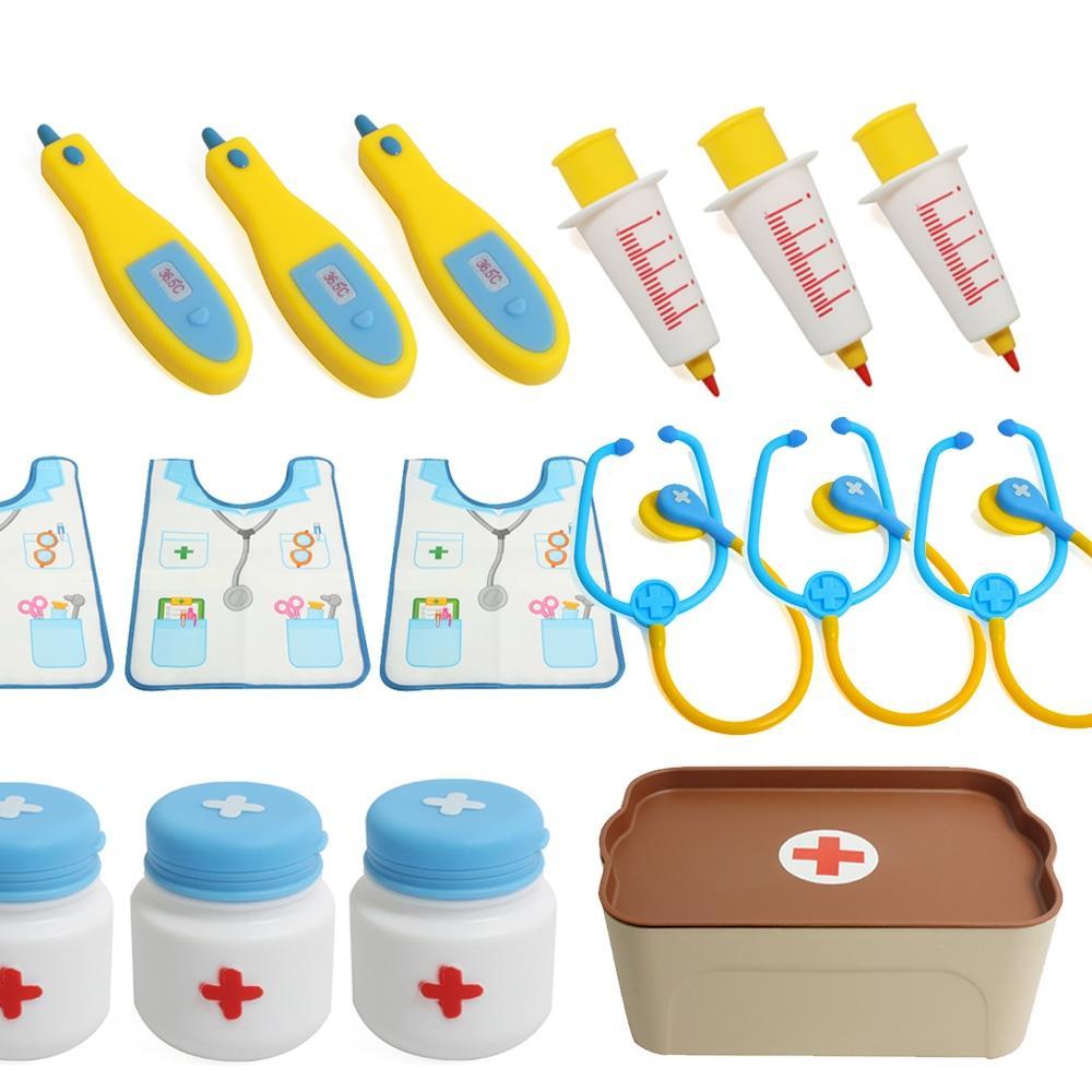 장난감 유아 아이 소프트 병원 의사 놀이 15pcs 조카 완구 어린이집 유아원 초등학교 장난감