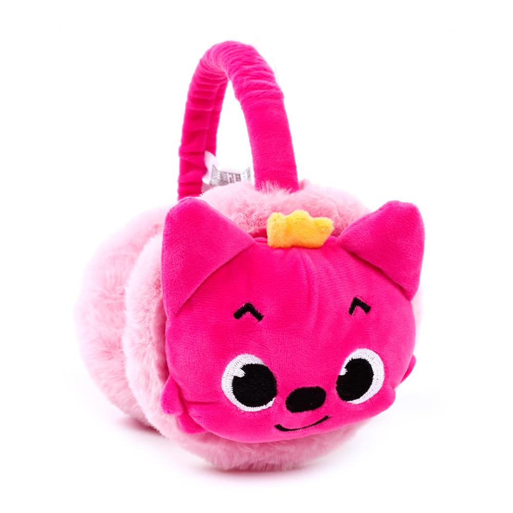 핑크퐁 입체얼굴 귀마개 겨울용품 방한용품 귀마개 목도리 넥워머 털모자 비니 장갑 아동귀마개 아동목도리