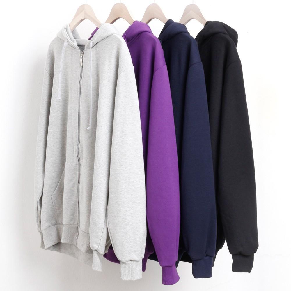 미시옷 3203L911 일상 지퍼 후드 집업 PC 빅사이즈 여성의류 빅사이즈 여성의류 미시옷 임부복 베이직면후드집업