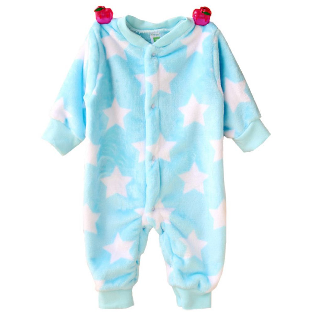 보들보들 별 스카이블루 우주복(0-12개월) 300175 아기우주복 롬퍼 백일옷 아기옷 유아옷 신생아옷 발싸개 유아복 돌복 실내복